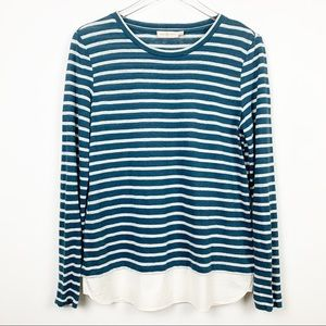 Tory Burch | Linen Jersey Striped Pullover